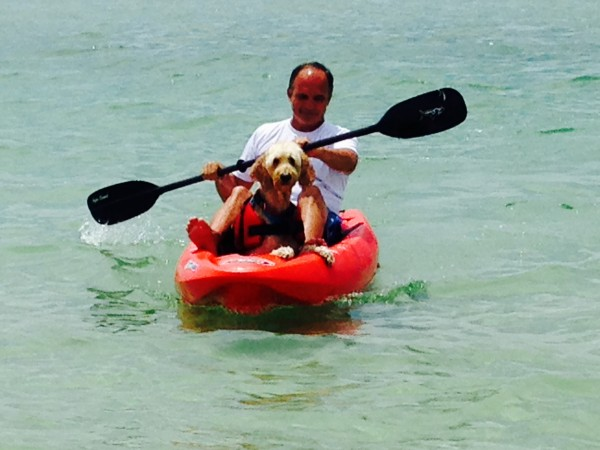Fred and Dave Taking a Spin in the Kayak